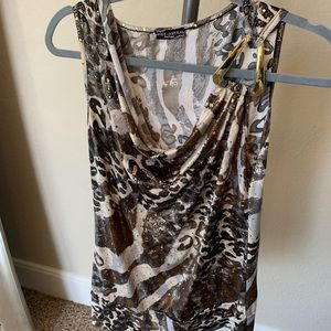 Body Central Stretchy Leopard Top Size L